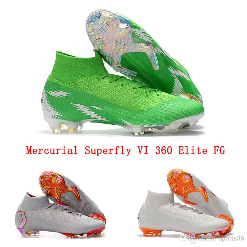 size 40 7013f d46e6 2019 Mercurial Superfly VI 360 Elite FG Mens Soccer Cleats Nigeria Superfly  6 CR7 Soccer Shoes World Cup High Ankle Soccer Boot Bright Green From ...