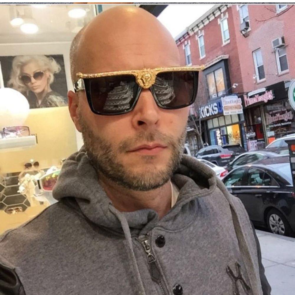 Occhiali da sole quadrati Montatura per occhiali da vista per donna e uomo con placcatura in oro Decorazione del leone Fashion Shopping Equipment Outdoor Ombra 96876FDY
