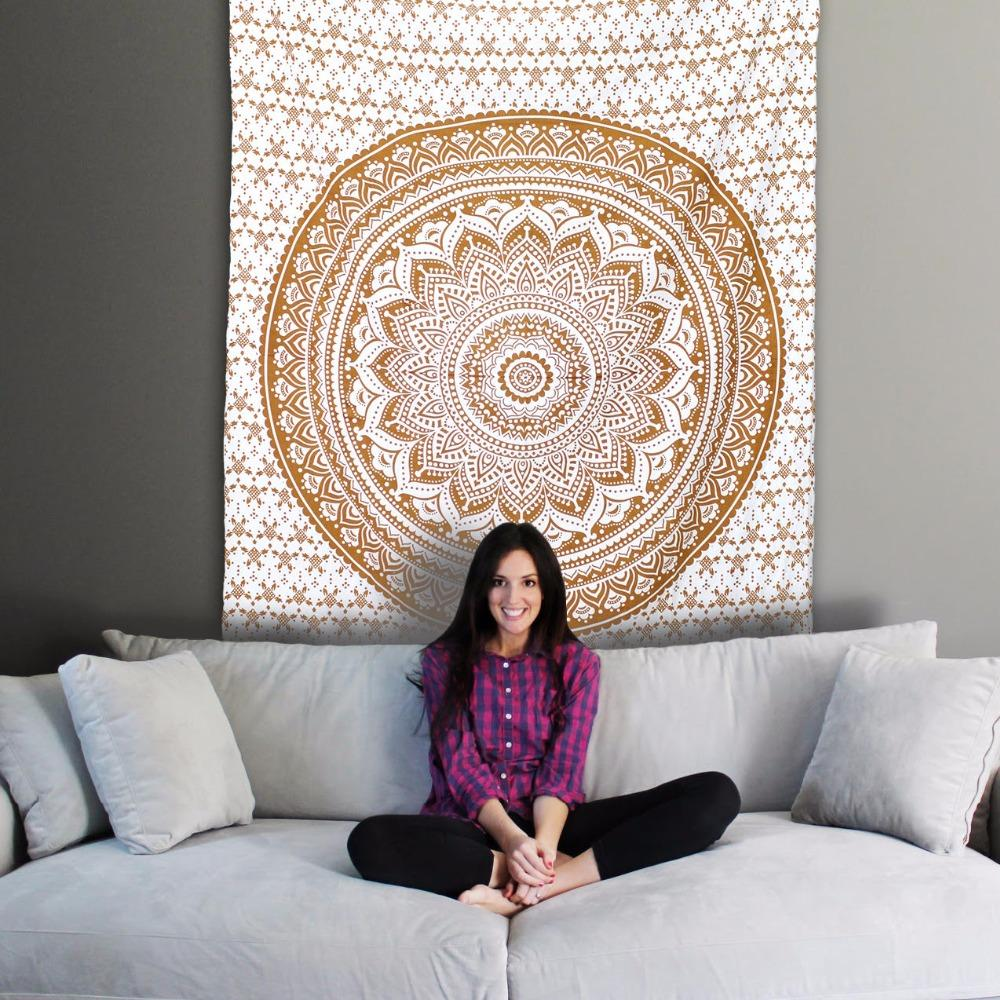 Wall Hanging decor picnic Blanket sofa cover Mandala Tapestry Blanket Yoga beach Bohemia hippie queen bedspread throw