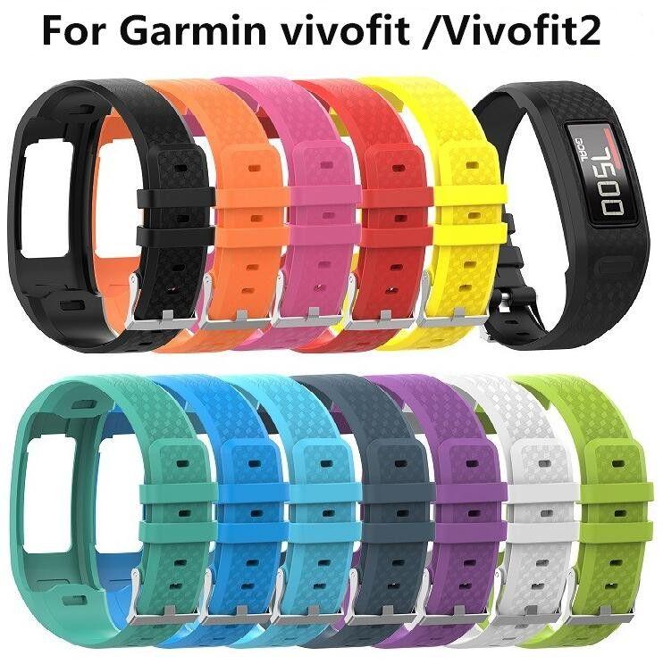 Bracelet de poignet en silicone multicolore taille S / L pour montre de remplacement pour Garmin Vivofit 1/2 pour Garmin vivofit1 Vivofit2