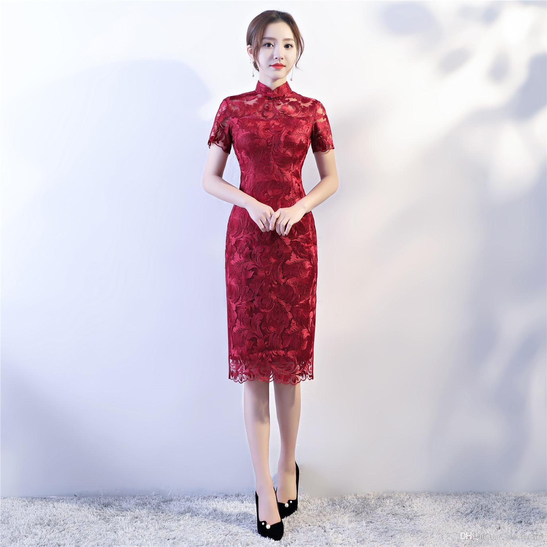 plus gros rabais mode de premier ordre une autre chance Acheter Robe Chinoise Traditionnelle Chinoise Qipao De Dentelle De Robe De  Style De $43.05 Du Glacier315 | DHgate.Com