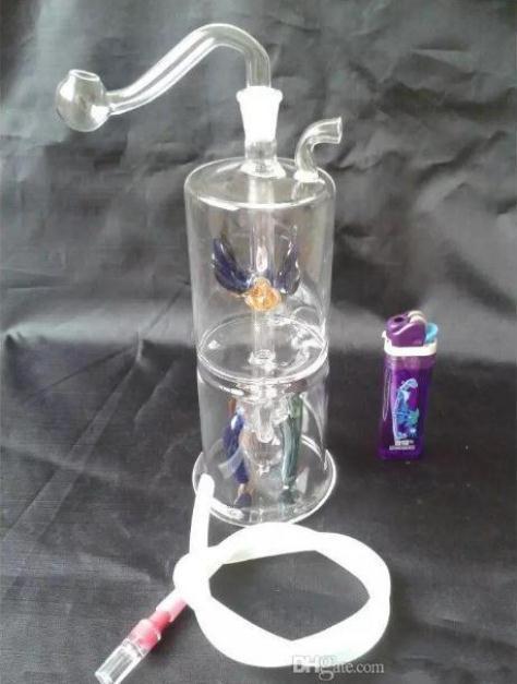 Bouteille de verre à quatre griffes filtre muet Bouteilles de verre Bongs en verre accessoires de tuyau de narguilé