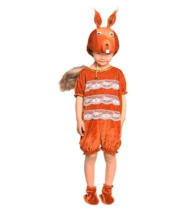 2018 New style children Cosplay Brown squirrel White and pink Fox Animal perform clothing Boys and girls Dance Conjoined clothes EXP1-8