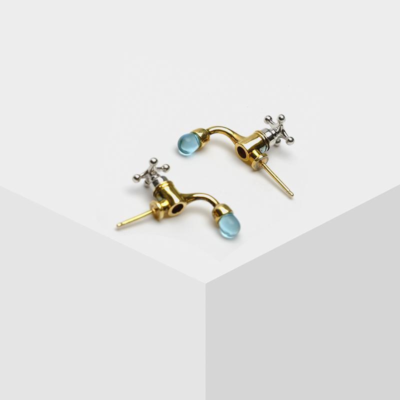 vendita all'ingrosso orecchini geometrici rubinetto acqua design geometria