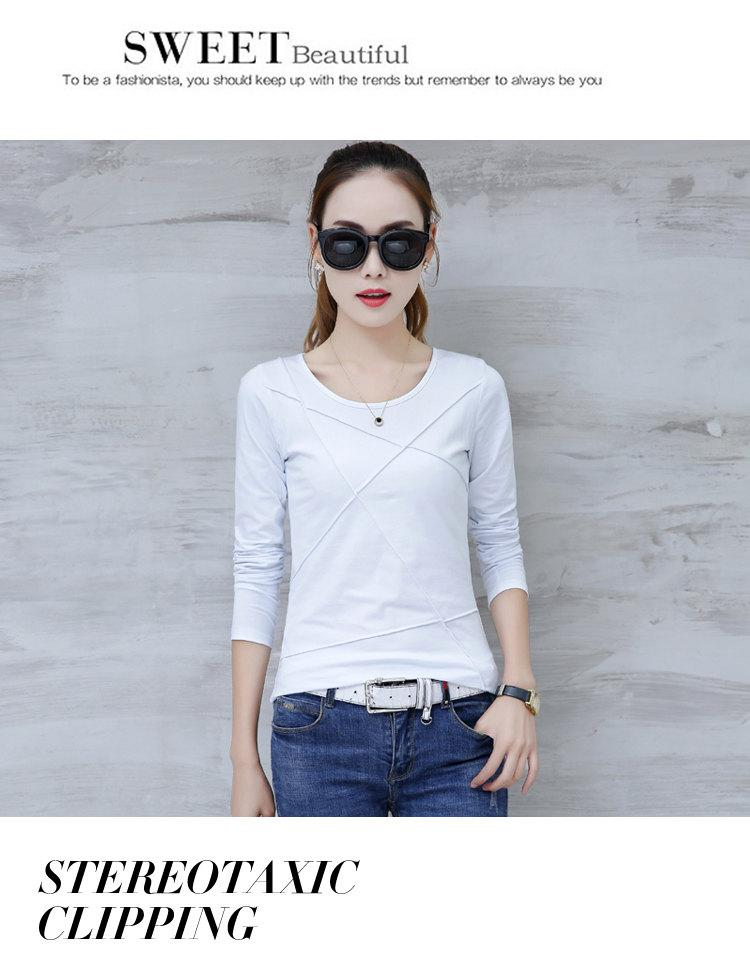 Plus Size Tshirt Women T-shirt Tee Tops Femme Autumn Long Sleeve T-shirts For Women 2019 Casual Cotton Tops Tees Camisetas Mujer (4)