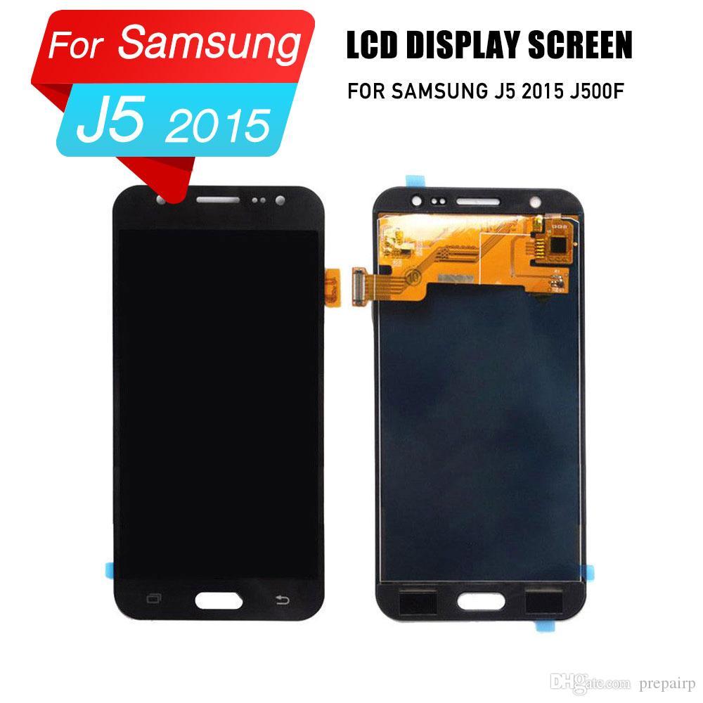 Samsung j5 için prepairP lcd ekran 2015 lcd sayısallaştırıcı ekran meclisi için samsung j5 2015 j500f / m / y lcd ekran
