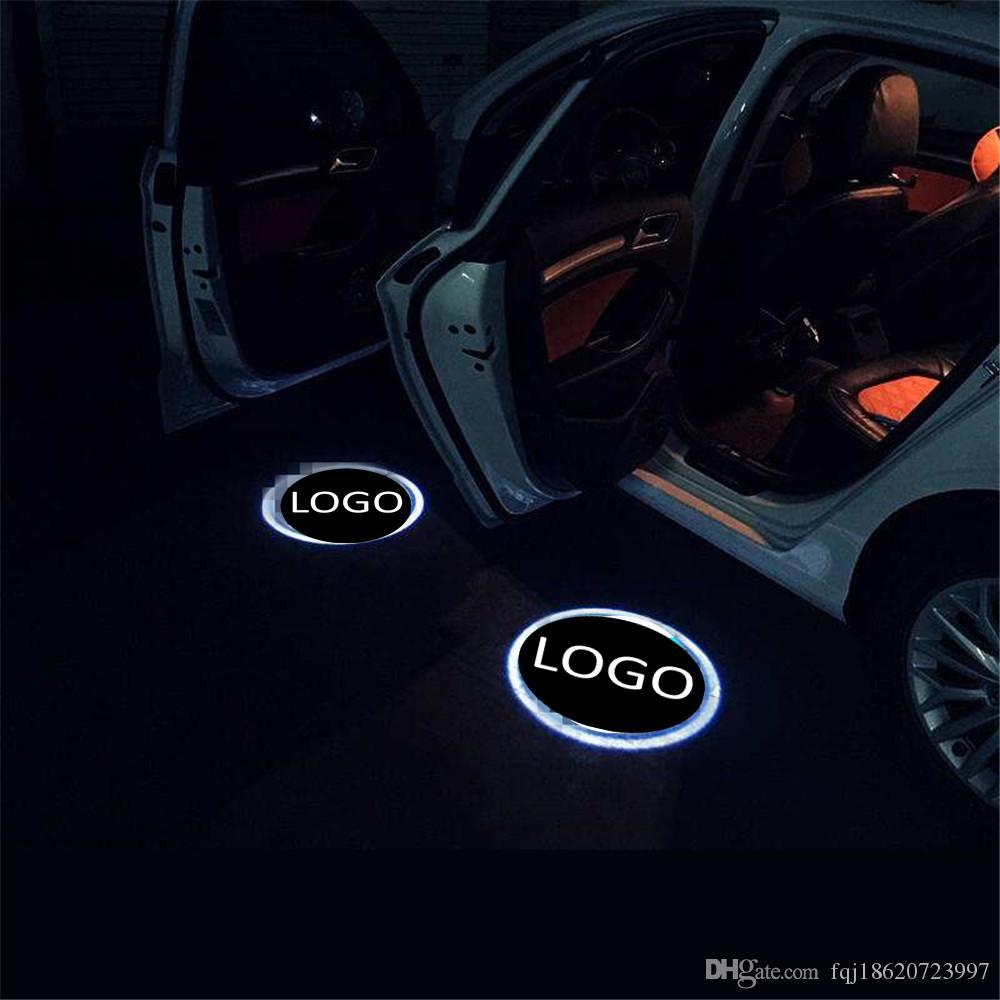 2 Adet Hayalet Gölge Işık Hoşgeldiniz Lambası Logo Lazer Projektör Araba LED Kapı Uyarı Işık için honda için chevrolet