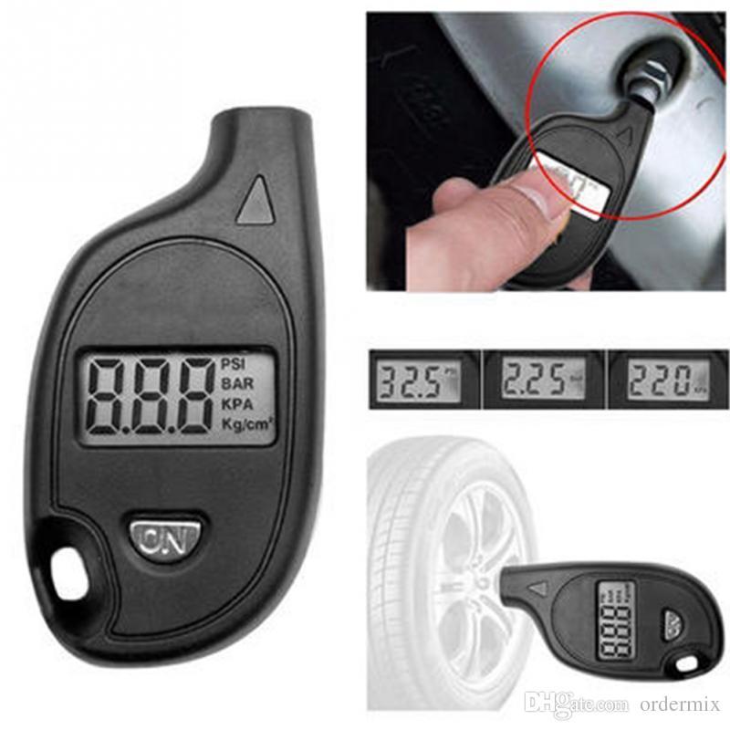 Mini Digital LCD Display Keychain Air Pressure Gauge Vehicle Motorcycle detector Diagnostic Tool