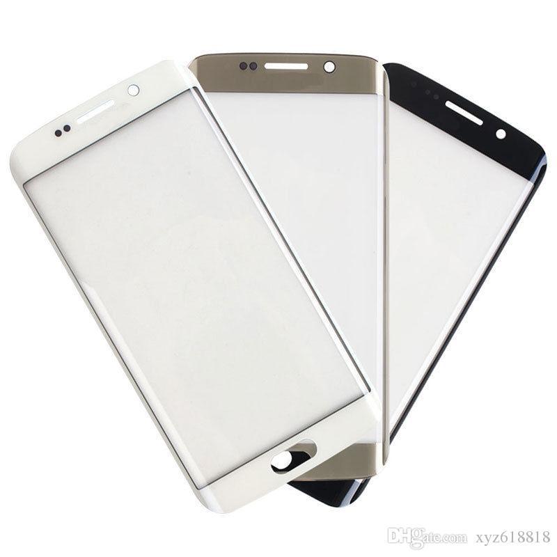 Le migliori parti di ricambio di qualità vetro esterno lente di vetro anteriore per Samsung Galaxy S6 bordo G925 G9250 G925F G925P