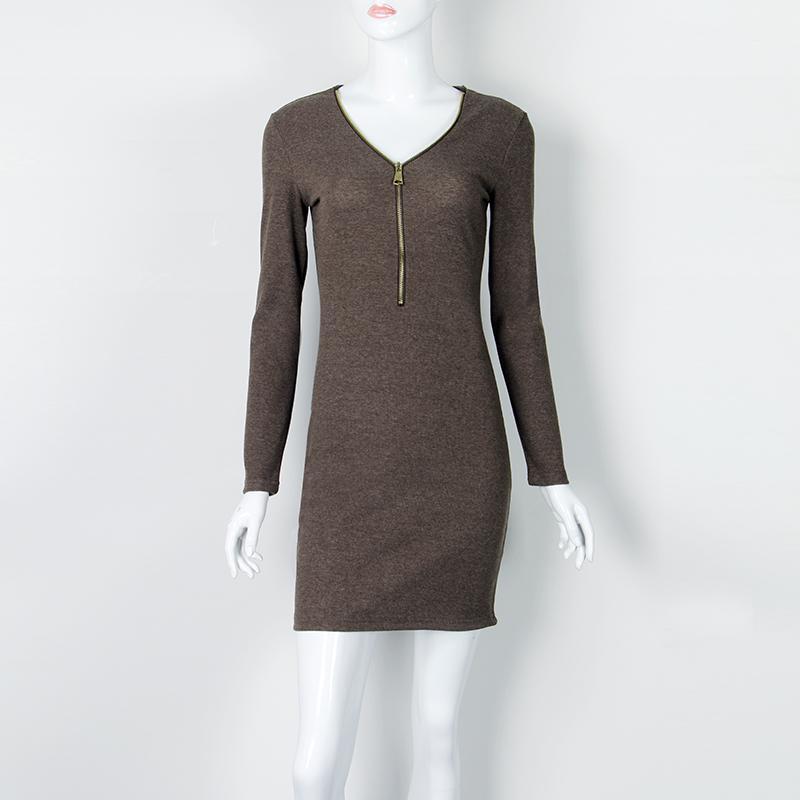 Großhandel 2017 Herbst Winter Frauen Mini Kleider Sexy Stretch ...