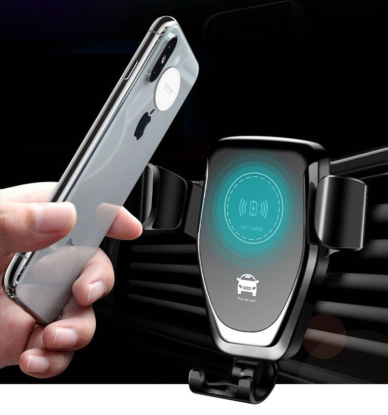 2018 브랜드 새로운 도매 무선 자동차 충전기 10W 7.5W 스마트 호환 자동차 홀더 충전기 아이폰 삼성 전자에 대한 휴대 전화 무선 충전기