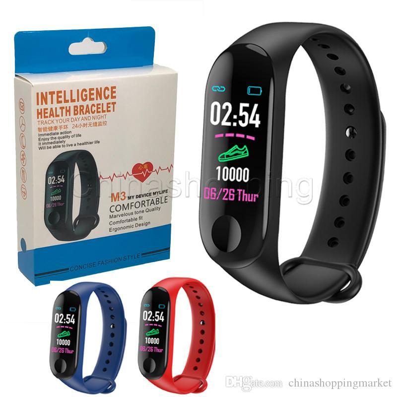 M3 الذكية سوار اللياقة تعقب القلب معدل القلب handband دعوة تذكير الرياضة للماء الذكية الفرقة ل ios الروبوت