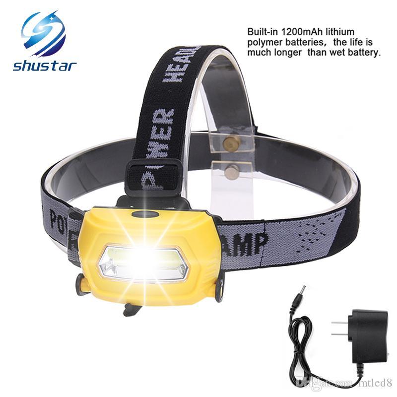 Phare à LED Phares de course rechargeables Phare USB 5W Parfait pour la pêche Marcher Camping Lecture Randonnée