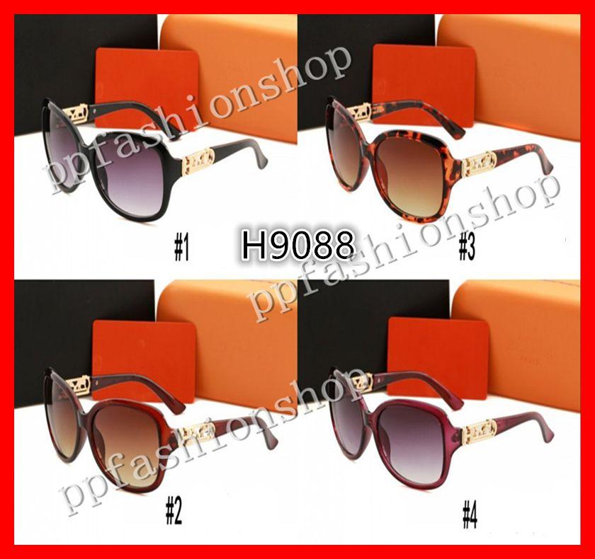 Lunettes de soleil de haute qualité grandes lunettes de soleil de luxe Men femmes femmes de marque lunettes de soleil lunettes de protection UV avec boîte d'origine