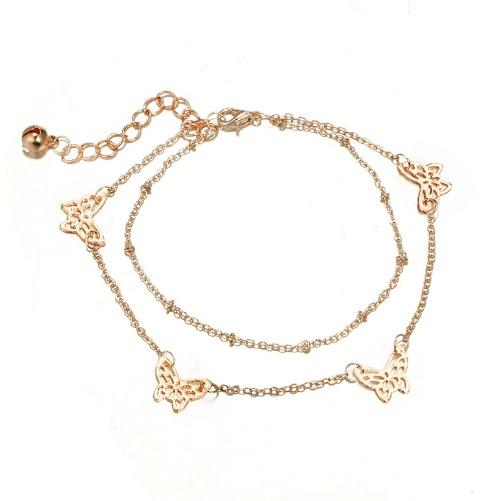 Jewelry Multi Layer Anklets Butterfly Bell Girls/Ladies Delicated Butterfly Tassel Ankle Chain Yoga Dancing Summer Beach Ankle Bracelet