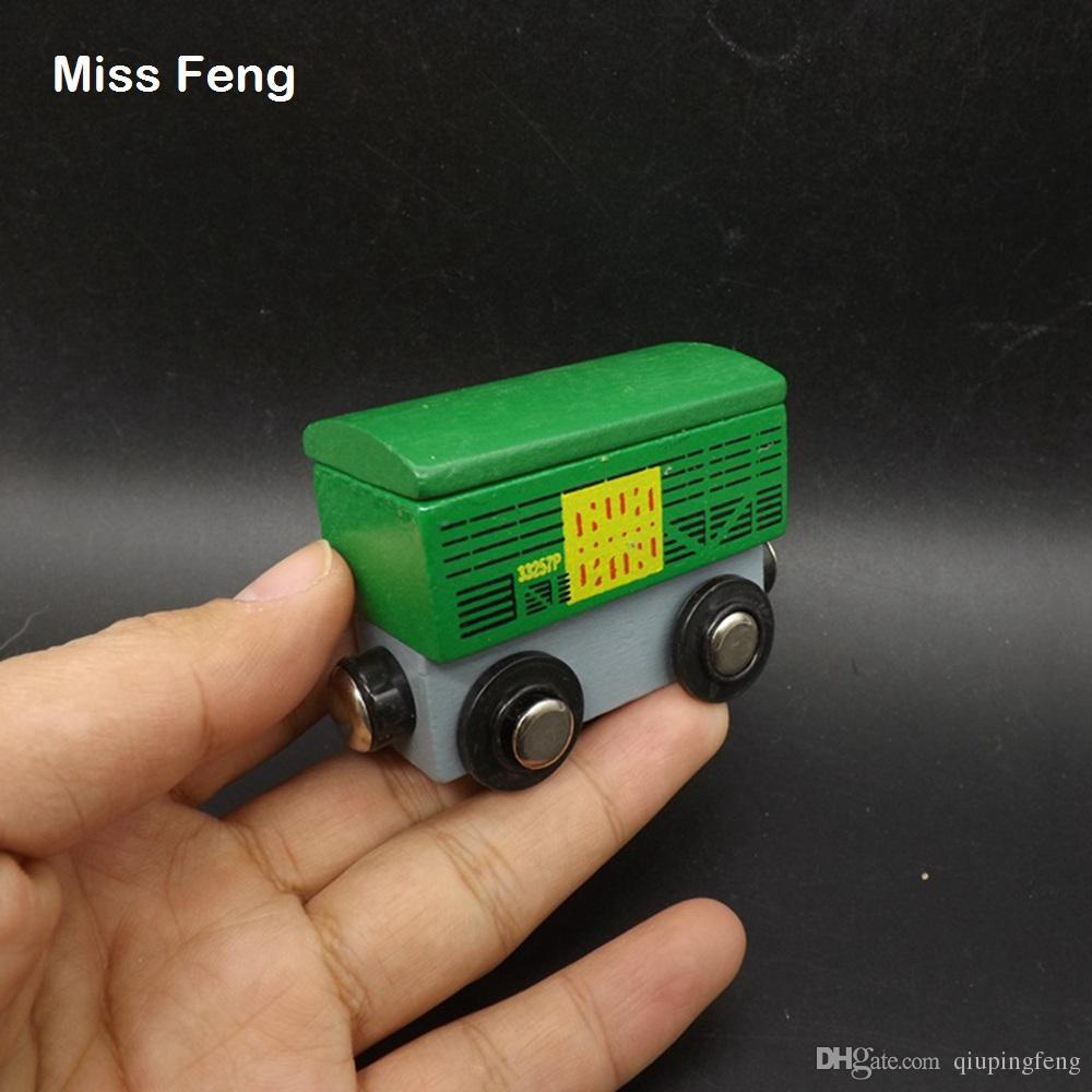Mini contenedor de tren verde Vehículo magnético Juguetes educativos Aprendizaje temprano Juguete educativo Juego de madera Regalo