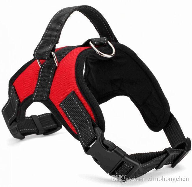 Macio ajustável coleira de cão Harness Vest Dog Big corda colar de mão Strap Pet Traction Rope para Pequenas e Médias cães grandes