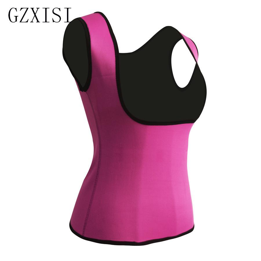 Fettverbrennung Slimmerbelt Westen Plus Größe 2XL Frauen Neopren Form Tragen Taille Trainer Push Up Weste Postpartale Bauch Trimmer Körper