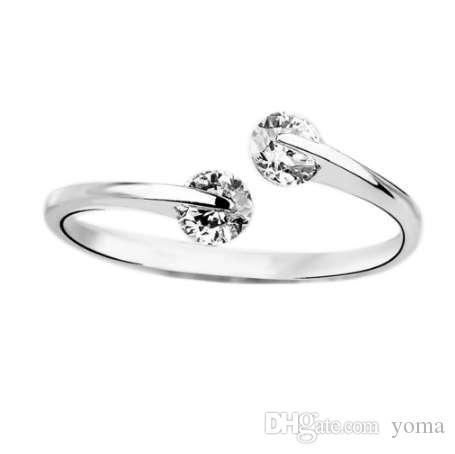 أزياء الفضة مطلي خاتم مزاجه افتتاح حلقة الذيل الدائري يمكن ضبط مجوهرات إسقاط الشحن شحن مجاني