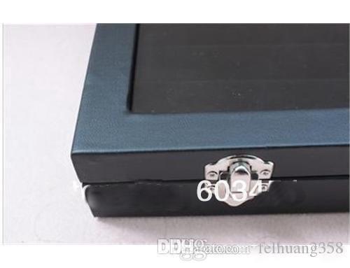 49 Par de gemelos de vidrio superior Estuche de almacenamiento / DISPLAY Box Black wood