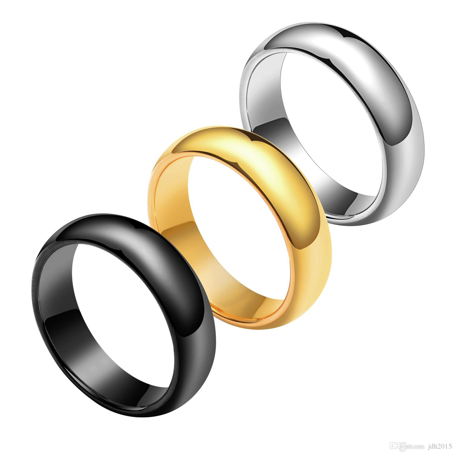 4MM 6MM Tungsten Ring Dome Band US Size 4-12 Free Custom for Men Women Wedding