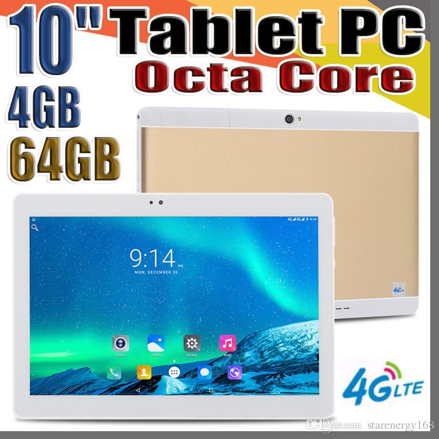 "168 MTK6737 10.1 인치 10 ""태블릿 PC 옥타 코어 IPS 블루투스 4기가바이트 64기가바이트 4G LTE 듀얼 SIM 전화 안드로이드 7.0은 무료 배송 GPS"