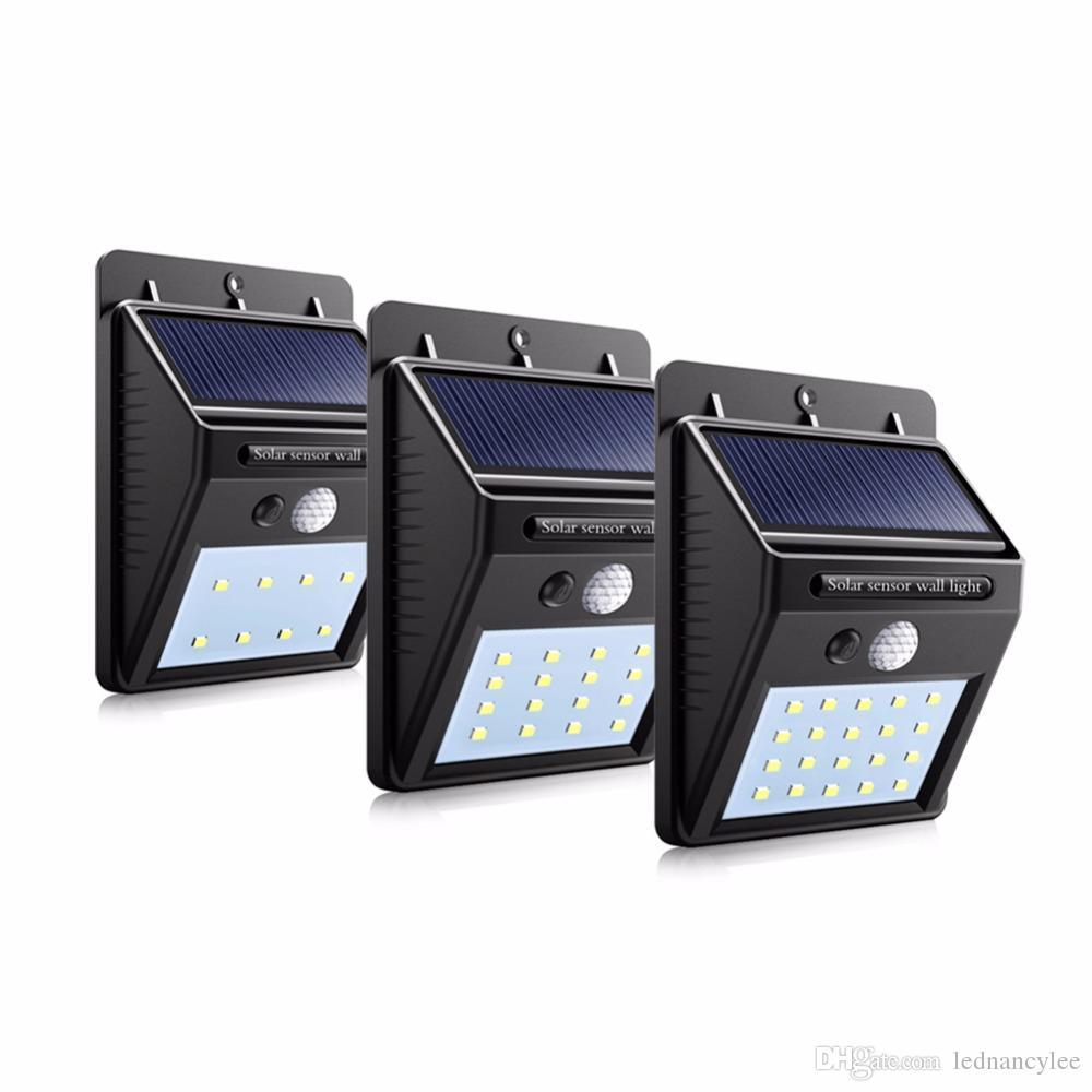 الطاقة الشمسية قابلة للشحن LED الشمسية لمبة ضوء حديقة في الهواء الطلق مصباح الديكور شرطة التدخل السريع استشعار الحركة ليلة ستريت ضوء الأمن مقاوم للماء