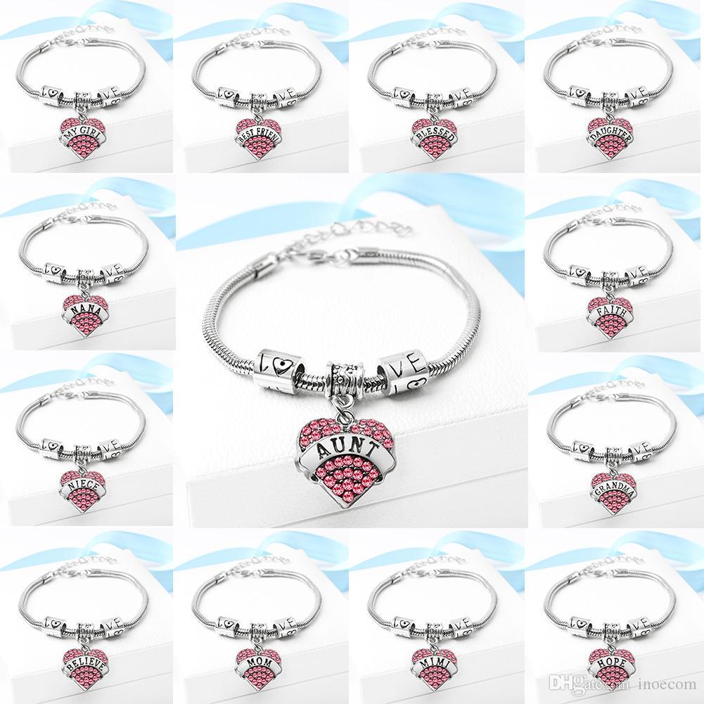 I gioielli della famiglia dei gioielli fai-da-te della famiglia di gioielli in lega di diamanti rossi