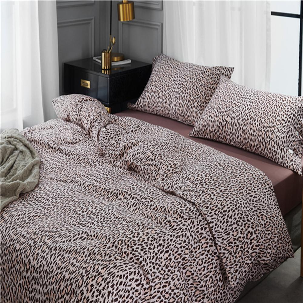 Cotton Box Copripiumino.Leopard Pattern Reactive Printed Bedding Set 60s Egyptian Cotton