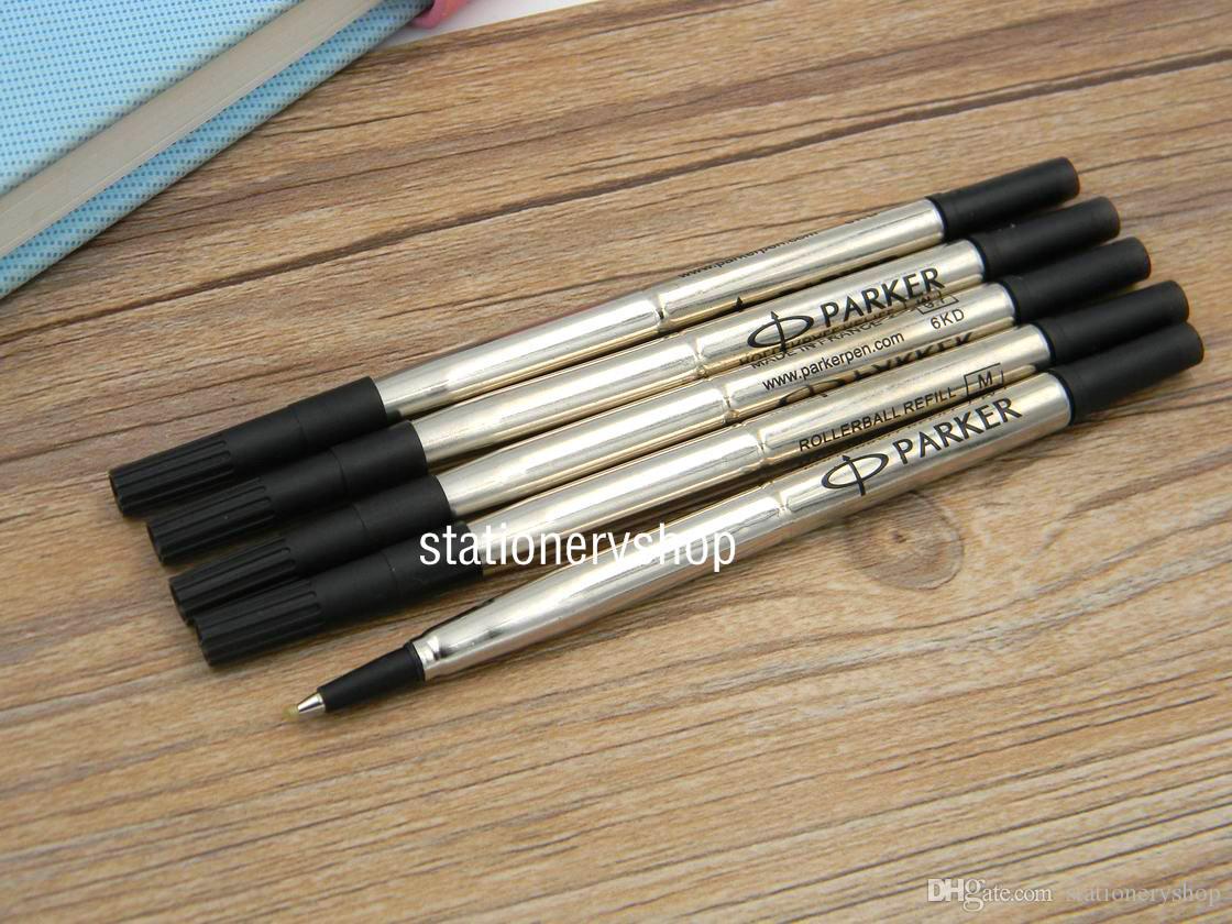 10 stück Black Office Parker Schreibschule Metall Tinte 0.7mm Rollerball Stift Nachfülls