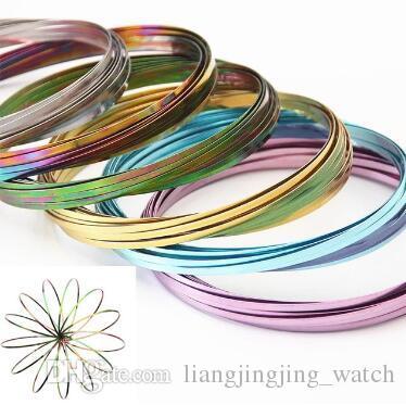 9 цветов потока игрушек рычага игрушечные колонны пружины браслет науки образовательные сенсорные интерактивные прохладный игрушки CCA9279 200 шт.