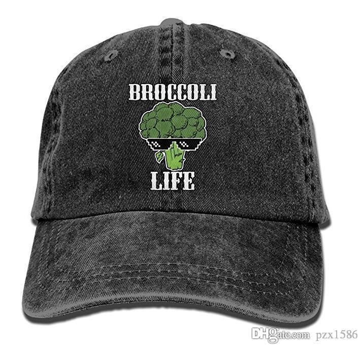 Pzx @ Beyzbol Şapkası Erkekler Kadınlar için, Brokoli Hayat erkek Pamuk Ayarlanabilir Kot Kap Şapka Çok renkli isteğe bağlı