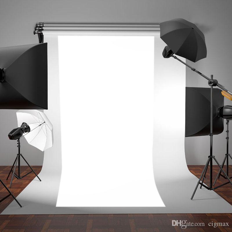 OOTDTY Nuevo BLANCO Vinilo Fino Fotografía Telón de fondo de Fondo Estudio de Fotos Prop Durable 3x5ft