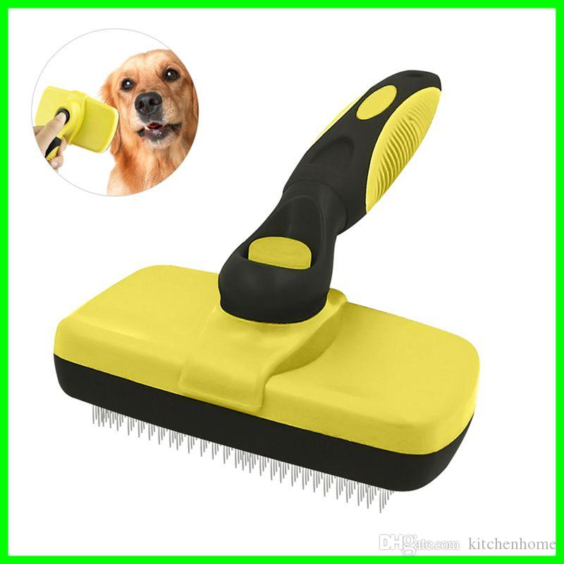 Pet Grooming Brush Self Cleaning Slicker Brushes Best Shedding Tools for Grooming Cats And Dogs with Long Thick Hair