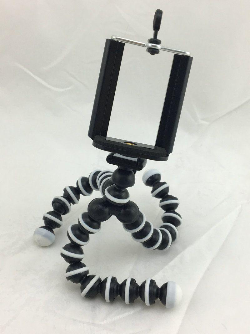 Alta qualità mini formato flessibile del polipo treppiedi supporto della staffa per il telefono mobile della macchina fotografica di azione con il supporto clip per iPhone Samsung DHL