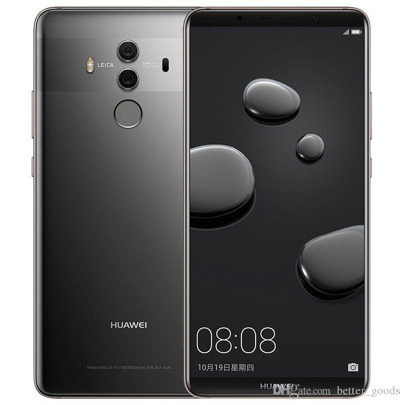 Original Huawei Mate 10 Pro 4G LTE Cell Phone 6GB RAM 64GB ROM Kirin 970 Android 6.0 inch 20.0MP NFC Fingerprint ID Smart Mobile Phone