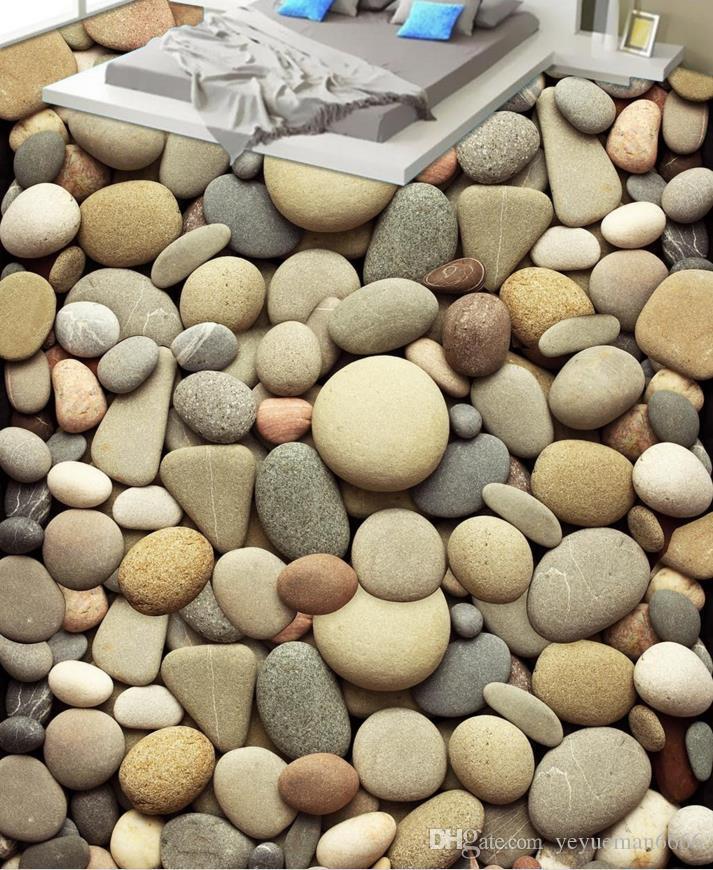 3d полы ПВХ самоклеющихся обоев на заказ фото обоев булыжник 3d пол Фреска гостиная обои 3-й этаж