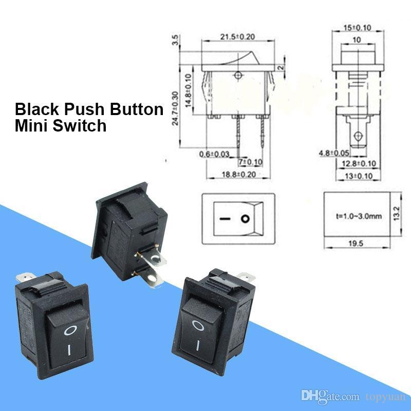 5 ensembles 2 PIN ON-OFF 2 position imperméable 6 A 250VAC Mini interrupteurs MTS-101