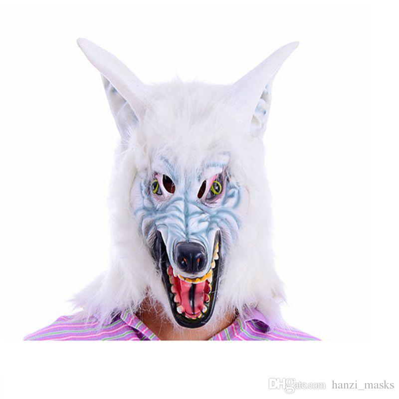 Hanzi_masks Practical Jokes Halloween Horror Mask toys Scary Costume Horror Face Masks Animal Wolf Head Mask Halloween mask