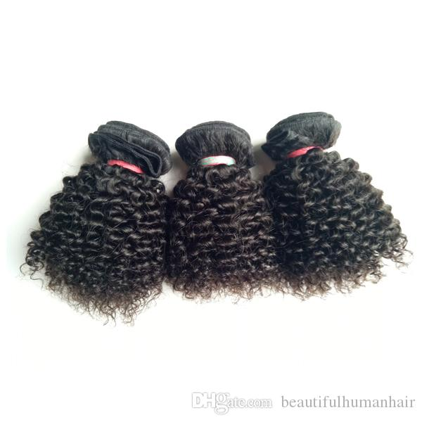 Brazilian Virgin Human Hair weft new short type 8-12inch Kinky Curly hair weft Beautiful Indian European remy hair extensions 3pcs/lot