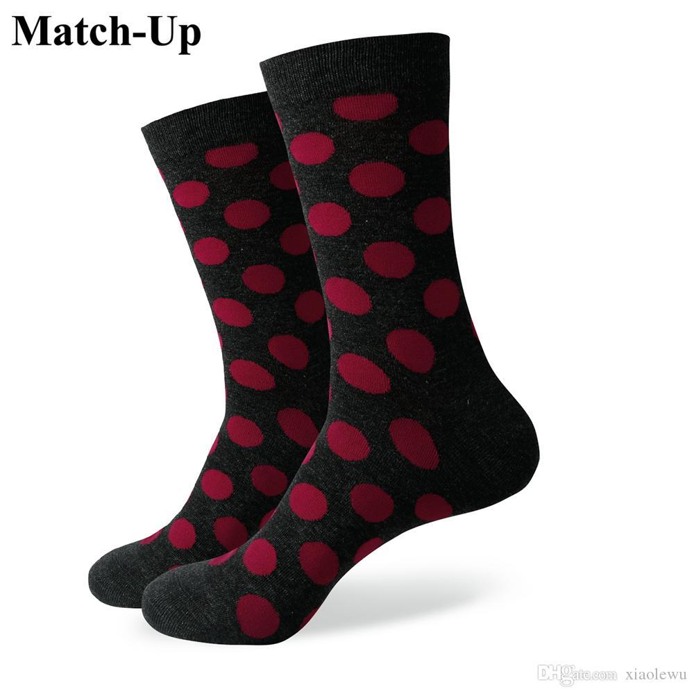 Chaussette colorée Big Dot pour hommes 2016, chaussettes en coton, expédition gratuite, taille US (7.5-12) 341