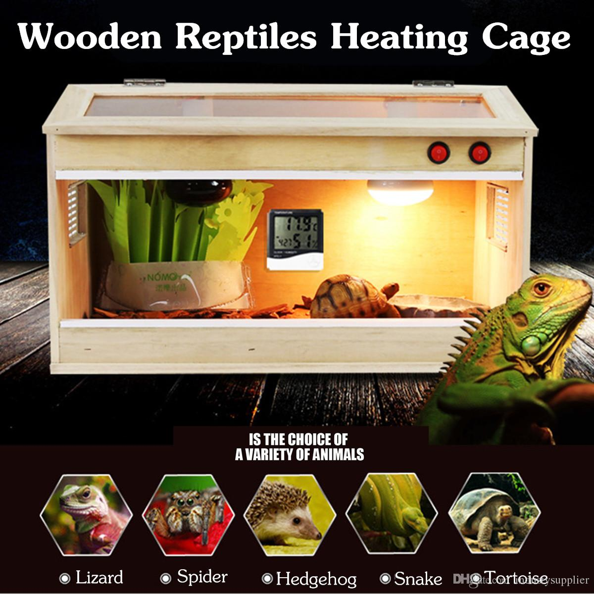 Reptiles feeding box Wooden feeding box glass feeding boxes Enclosure Heating Cage Lizard Frogs Snake Turtle