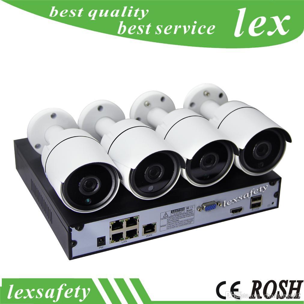 Système de vidéosurveillance IP 2MP Full HD 1080P 4 canaux ip caméra extérieure, caméra de surveillance sans fil ip Kit de vidéosurveillance 4CH 1080P POE NVR
