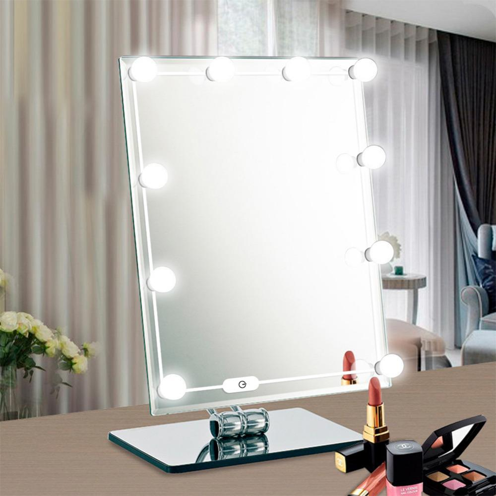 wholesale 10 LEDs Vanity Mirror Lights Kit With Dimmable Light Bulbs USB Charger For Makeup Vanity Table Set In Dressing Room