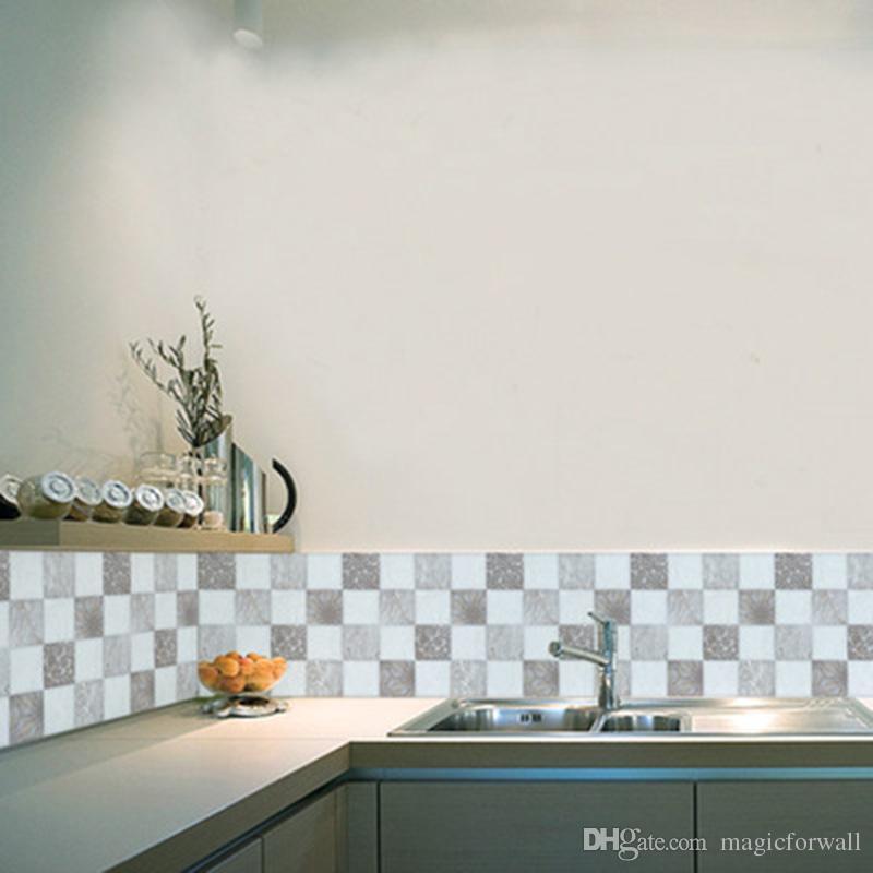 Großhandel Europäischen Stil Fliesen Dekorative Wandaufkleber Badezimmer  Küche Zimmer Wasserdichte Wanddekor Wand Poster Kunst Simulation Fliesen ...