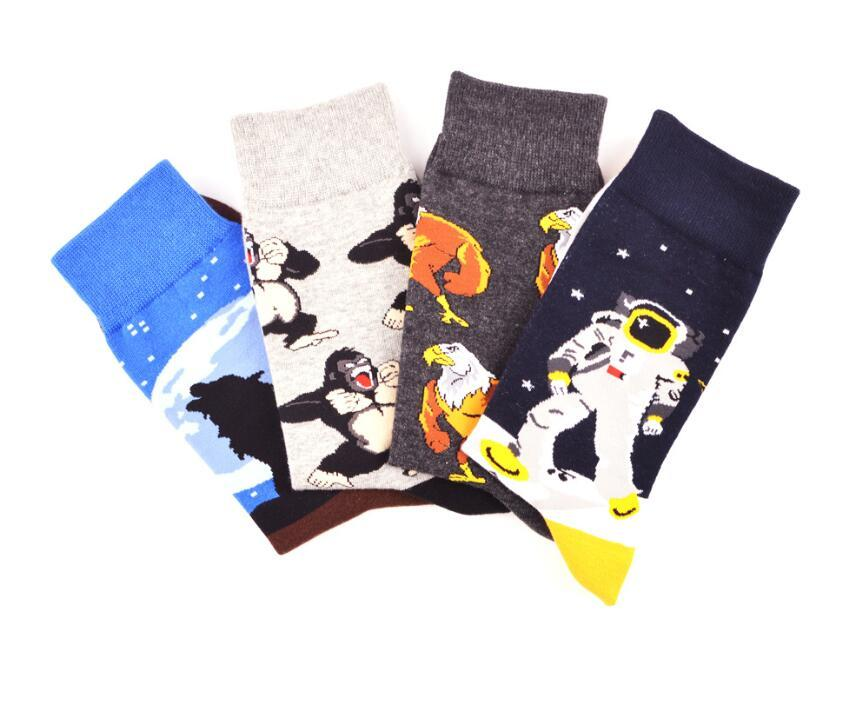 Winter High Quality Cotton Socks For Men Men's Hip Hop Sock Male Print Casual Thick Long Socks