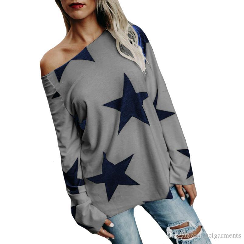ستار تي شيرت كم طويل الصيف الخريف المرأة عارضة القمصان عالية الجودة بالإضافة إلى حجم تي شيرت الإناث