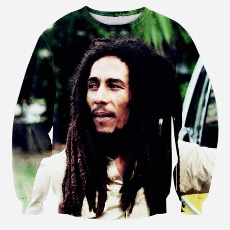 New Fashion Cool Felpa con cappuccio Uomo Donna 3D Print Legendary Star Bob Marley Hot Style Streetwear Sleeve Abbigliamento B44