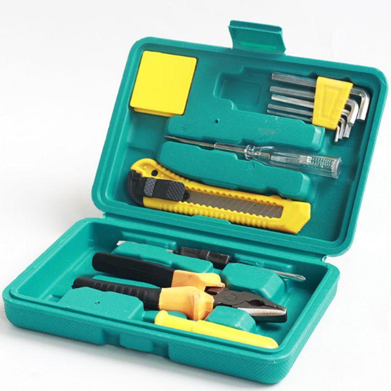 Coche Conjuntos de 11 piezas Juegos de herramientas Portátil Multifunción PEQUEÑO TAMAÑO HOGAR 11 Piezas Juego de herramientas Suministros de emergencia de seguridad