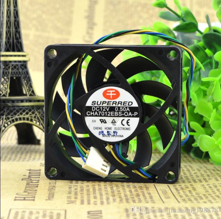 For Qianhong cha7012ebs-oa-p 7CM 7015 12V 0.50A 4-wire CPU cooling fan
